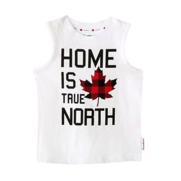 Canadiana Home is True North Crew-Neck Tank Top